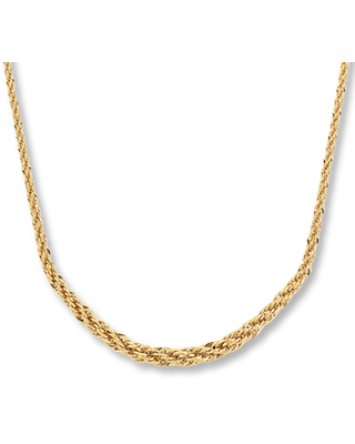 """Rope Twist Necklace 14K Yellow Gold 18"""" Length"""