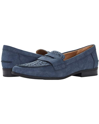 LifeStride Women's Madison Perf Loafer, Navy, 6.5 Wide