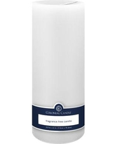 Colonial Candle Unscented Pillar Candle NFFT39 Color: White