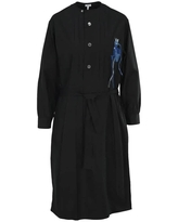 Loewe Ladies Embroidered Tunic Shirt Dress In Black, Brand Size X-Small