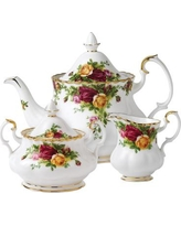 Royal Albert Old Country Roses 3 Piece Teapot Set 15210684