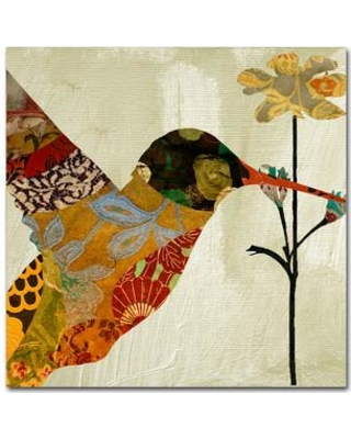 Shop Trademark Fine Art Hummingbird Brocade Iii By Color Bakery Graphic Art On Wrapped Canvas Canvas Fabric In Brown Size 14 H X 14 W X 2 D