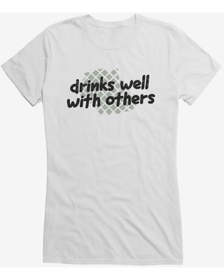 iCreate Drinks Well With Others Girls T-Shirt