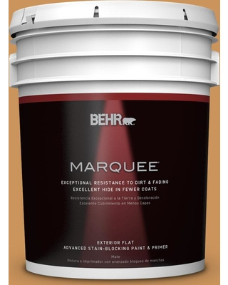 BEHR MARQUEE 5 gal. #M250-5 Burnt Pumpkin Flat Exterior Paint and Primer in One