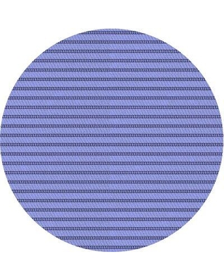 East Urban Home Striped Wool Blue Area Rug X112503082 Rug Size: Round 5'