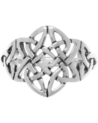 Sterling Silver Celtic Trinity Star Knotwork Ring (9)