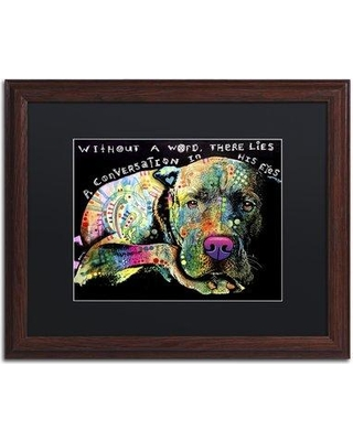 """Trademark Art 'Without a Word' Framed Graphic Art on Canvas ALI2631-W1 Matte Color: Black Size: 16"""" H x 20"""" W x 0.5"""" D"""