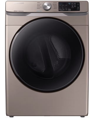 Samsung 7.5 cu. ft. Electric Dryer with Steam Sanitize+ in Champagne(DVE45R6100C/A3)