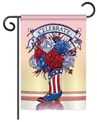 "American Boots 2-Sided Polyester House Flag Breeze Decor Size: 40"" H x 28"" W"