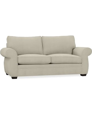 Pearce Roll Arm Upholstered Deluxe Sleeper Sofa, Polyester Wrapped Cushions, Premium Performance Basketweave Oatmeal