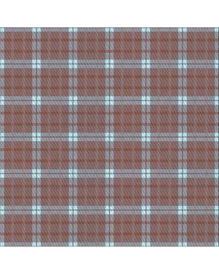 East Urban Home Plaid Wool Brown/Blue Area Rug W002538444 Rug Size: Square 3'