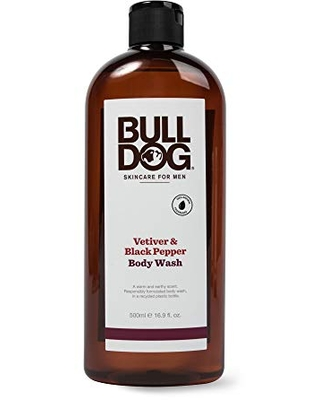 Bulldog Mens Skincare and Grooming Body Wash, Vetiver and Black Pepper, 16.9 Ounce