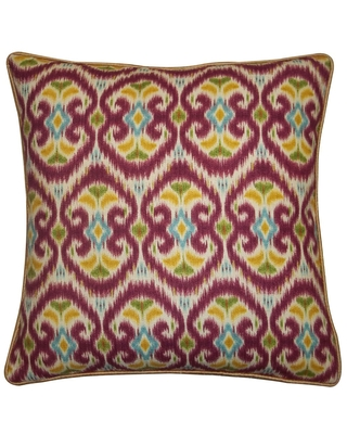 "Handmade Bali Red Decorative Pillow - 20"" x 20"" (20x20 Bali Pillow, Red)"