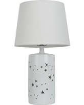 2-in-1- Starry Table Lamp Includes Energy Efficient Light Bulb White - Pillowfort