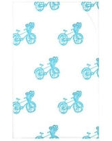 """e by design Bicycles! Geometric Print Polyester Fleece Throw Blanket HGN227 Size: 60"""" L x 50"""" W x 0.5"""" D, Color: Turquoise"""