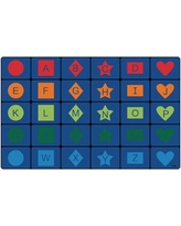 """Carpets for Kids Simple Shapes Seating Blue Area Rug 3212/3234 Rug Size: 7'6"""" x 12'"""