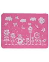 """11"""" x 15"""" Silicone Garden Party Placemat Pink - Brinware"""