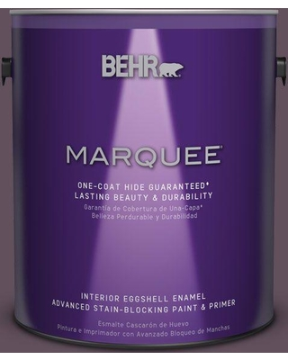 BEHR MARQUEE 1 gal. #S100-7 Medieval Wine One-Coat Hide Eggshell Enamel Interior Paint and Primer in One