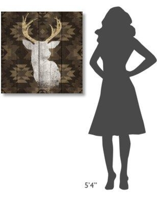 "East Urban Home 'Precious Antlers II' Print on Wrapped Canvas EUNM5610 Size: 30"" H x 30"" W"