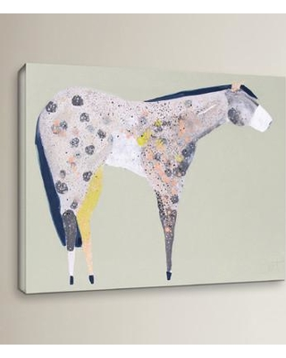 "Wrought Studio Horse No. 60 Painting Print on Wrapped Canvas VKGL3542 Size: 18"" H x 24"" W x 2"" D"