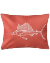 Rosecliff Heights Weatherhill Sailfish Lumbar Pillow ROHE5982 Color: Coral