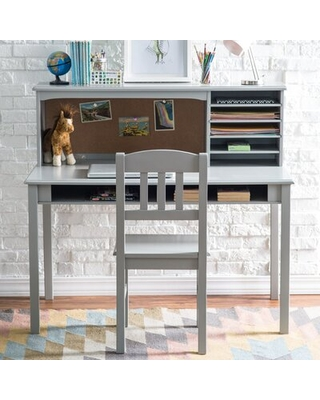 Sensational Harriet Bee Glaser Kids Study Desk And Chair Set With Kids Hutch Harriet Bee Color Gray From Wayfair North America Bhg Com Shop Unemploymentrelief Wooden Chair Designs For Living Room Unemploymentrelieforg