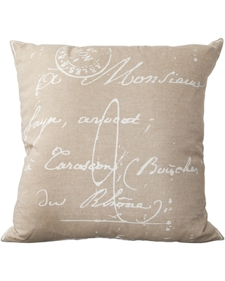 The Gray Barn Red Rock 18-inch French Script Throw Pillow (Polyester - Beige)