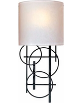 """George Kovacs Circles Collection 18"""" High Wall Sconce"""