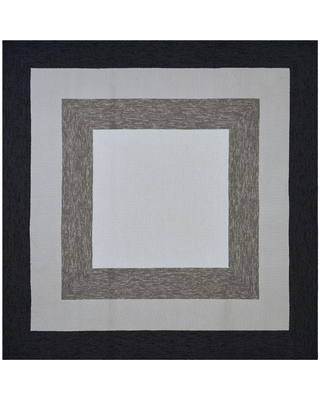 Find Savings On Homeroots Bernadette Black And White 7 Ft X 7 Ft Square Indoor Area Rug