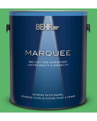 BEHR MARQUEE 1 gal. #P390-6 Lawn Party Satin Enamel Interior Paint and Primer in One