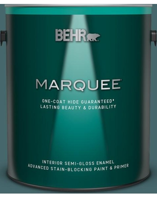 BEHR MARQUEE 1 gal. #500F-7 Mythic Forest Semi-Gloss Enamel Interior Paint and Primer in One