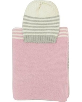 Darzzi Sia 2 Piece Baby Blanket and Beanie Set BBC-2025-0412 / BBC-2025-0413 Color: Light Pink/Gray Combo