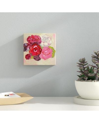 """Ebern Designs 'Roses Red And Pink' Acrylic Painting Print BF173960 Size: 30"""" H x 30"""" W x 1.5"""" D Format: Wrapped Canvas"""