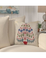 """Highland Dunes Huong Decorative Holiday Geometric Print Square Throw Pillow HLDS5767 Size: 20"""" H x 20"""" W, Color: Pink"""