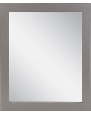 Woodcrafters Tan Us 31 in. W x 26 in. H Wood Framed Wall Mirror in Taupe Gray
