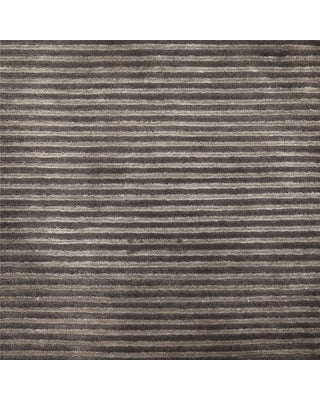 Hand-Knotted Zachary Solid New Zealand Wool Area Rug (5' x 8' - Charcoal)