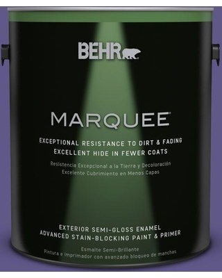 BEHR MARQUEE 1 gal. #S-G-640 Purple Balloon Semi-Gloss Enamel Exterior Paint and Primer in One