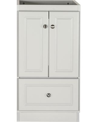 Simplicity by Strasser 18 in. W x 21 in. D x 34.5 in. H Simplicity Bath Vanity Cabinet Only in Ultra Dewy Morning