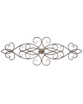 Scroll Metal Wall Decor with Medallion