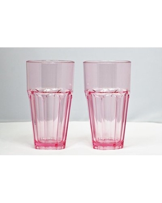 Middlewich 12 oz. Plastic Drinking Glass Highland Dunes Color: Rose