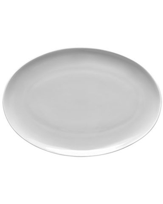 """Noritake Colortrio Coupe 16"""" Oval Platter In Blue Blue/grey"""