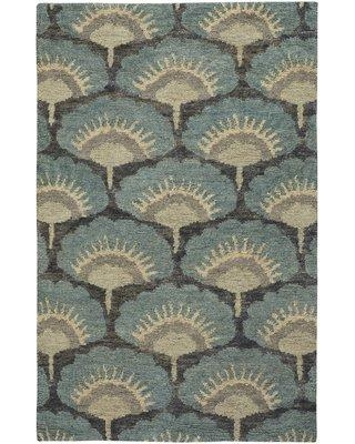 Bloomsbury Market Chappell Hand-Knotted Blue Area Rug BBMT6040 Rug Size: 5' x 8'
