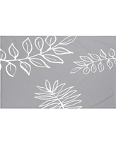 """e by design My Best Frond Floral Print Throw Blanket HFN190 Size: 60"""" L x 50"""" W, Color: Classic Gray (Dark Gray/Off White)"""