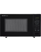 "Sharp Carousel 20"" 1.1 cu.ft. Countertop Microwave SMC1131C Color: Black"