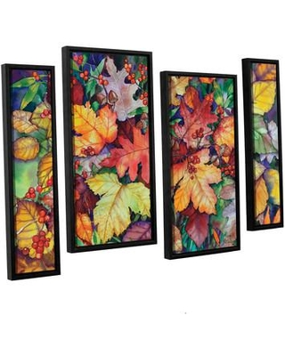"""Darby Home Co Wild Bouquet 4 Piece Framed Painting Print on Canvas Set DRBC4919 Size: 24"""" H x 36"""" W x 2"""" D"""