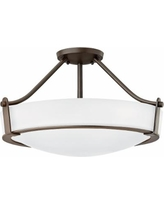 "Hinkley Hathaway 20 3/4""W Olde Bronze Etched Ceiling Light"