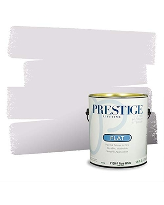 Prestige Paints Interior Paint and Primer In One, 1-Gallon, Flat, Comparable Match of Valspar* Gentle Violet*