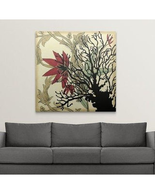 "Great Big Canvas 'Coral Tapestry I' Jennifer Goldberger Painting Print 2437889_1_ Size: 48"" H x 48"" W x 1.5"" D Format: Canvas"