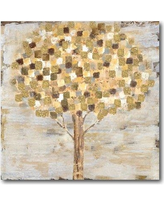 Ebern Designs 'Golden Tree' Graphic Art Print on Wrapped Canvas EBDG1185