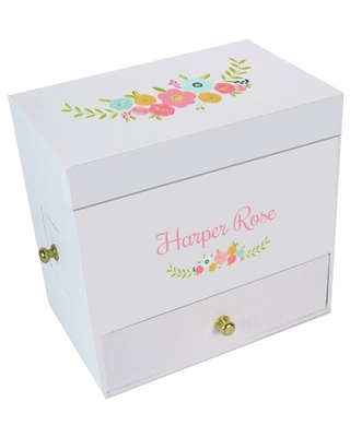 Spring Floral Deluxe Ballerina Jewelry Box
